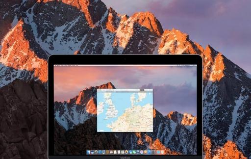 Tabbladen in macOS Sierra.