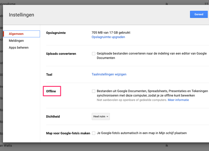Chrome: offline Google Drive gebruiken