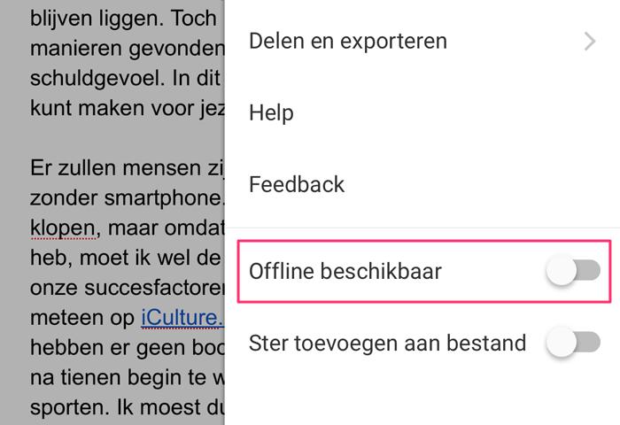 Google Drive offline beschikbaar in Chrome