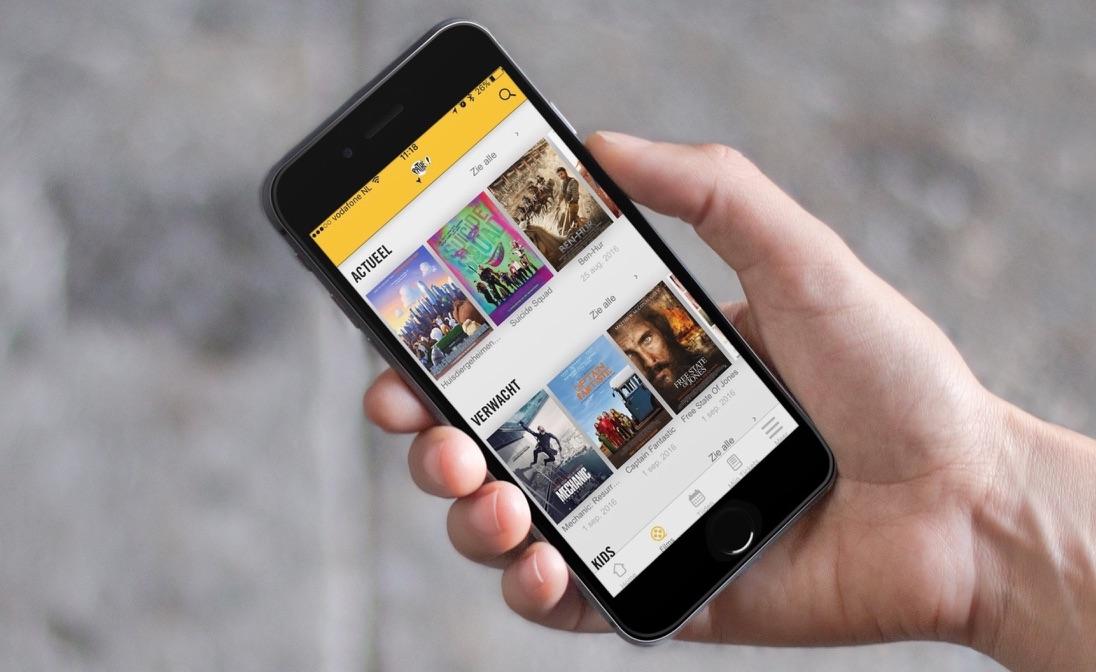 Pathé-app op de iPhone.