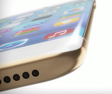 Gebogen iphone 6 concept
