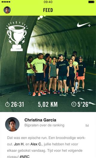 Nike Run Club-app: runs delen met vrienden na afloop