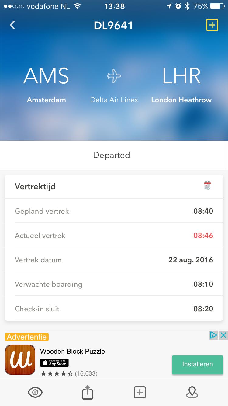 Onofficiele Schiphol-app vernieuwd.