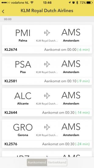 Vluchten in de vernieuwde onofficiele Schiphol-app.