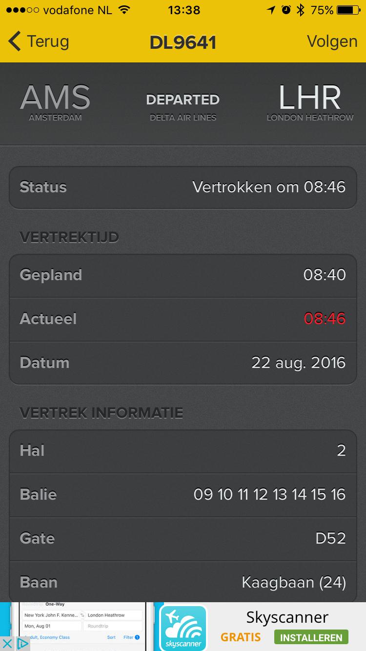 Oude Schiphol-app onofficieel.