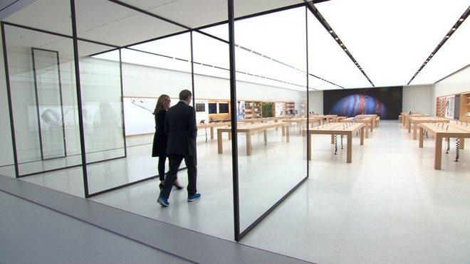 Angela Ahrendts in nieuwe Apple Store