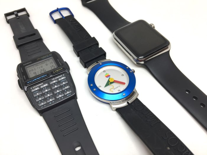 Mac Watch, tussen andere horloges