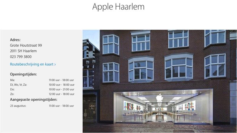 Apple Haarlem nieuw