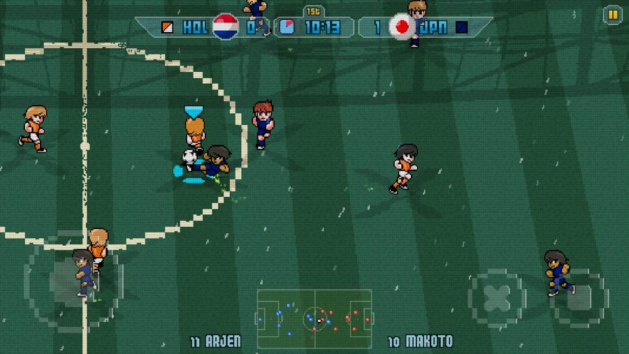 Pixel Cup Soccer Besturing
