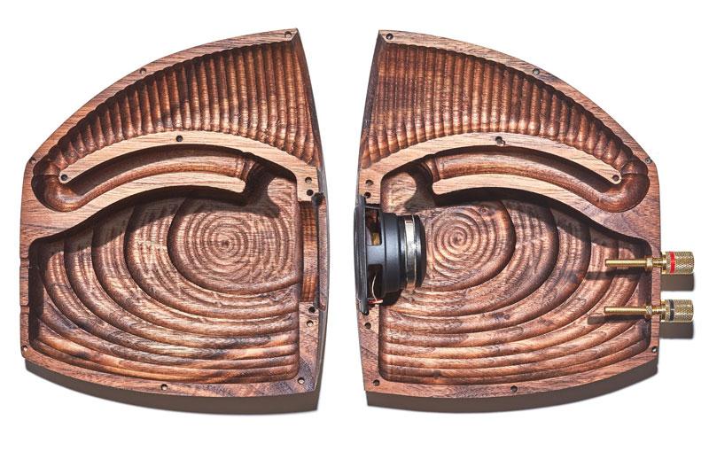 Grovemade speaker, binnenkant