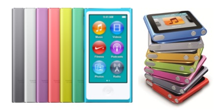 6e en 7e generatie iPod Nano.