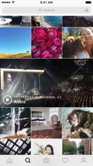 Instagram Events op de Verkennen-pagina.