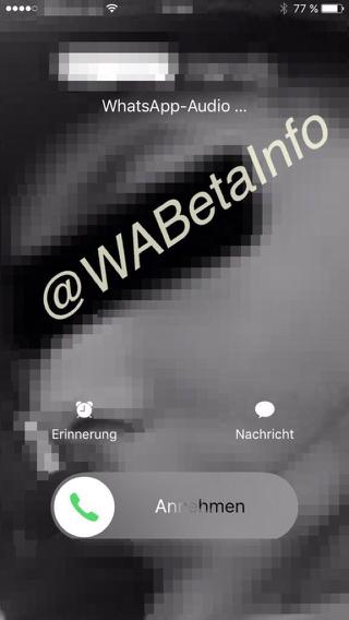WhatsApp beta met iOS 10-functie voor bellen.