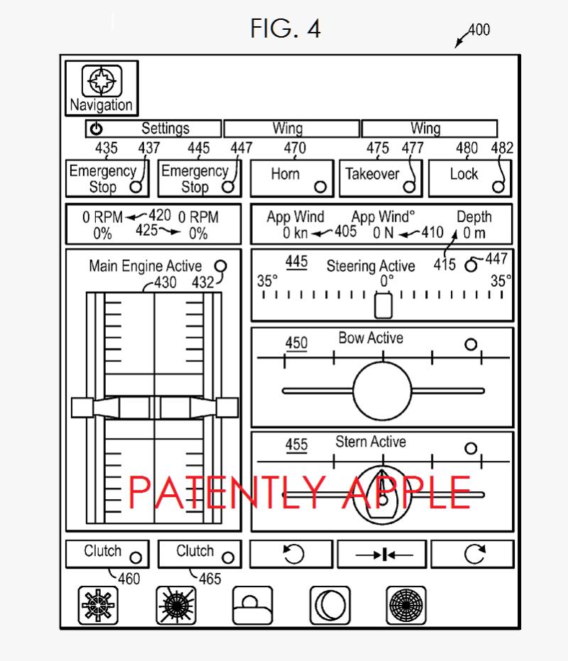 Apple's patent op een afstandsbediening voor een jacht