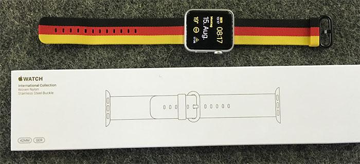 Duits Apple Watch-bandje voor de Olympische Spelen.