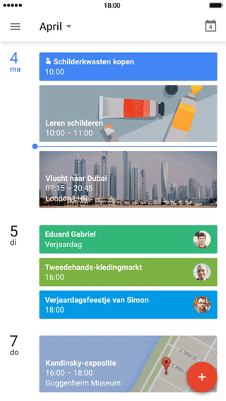 Google Agenda op de iPhone