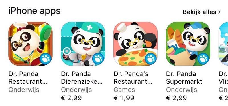 Apps van Dr. Panda
