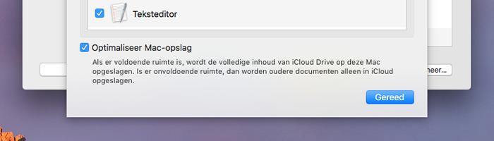 macOS Sierra: geoptimaliseerde opslag