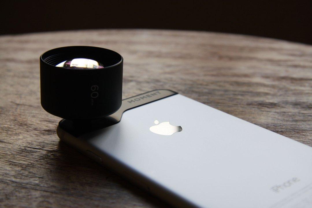 Moment-lens op iPhone