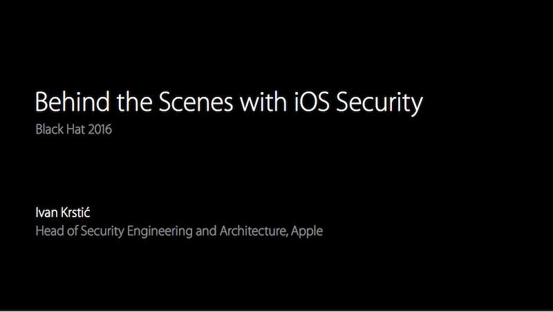 Black Hat 2016 iOS Security
