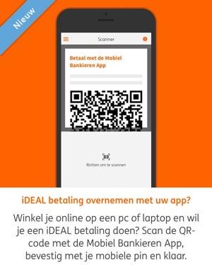 Mobiel bankieren met QR-code