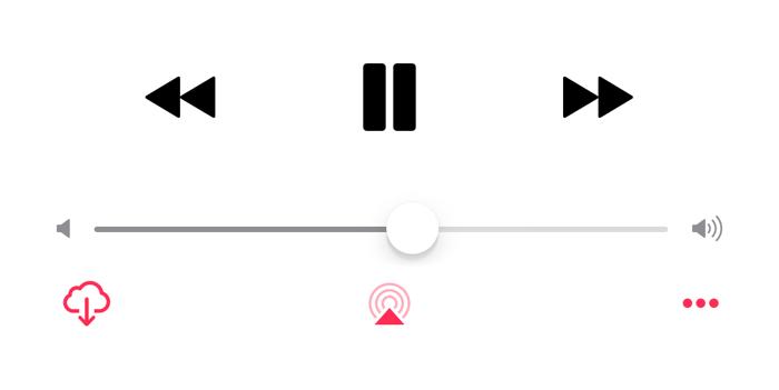 iOS 10 beta 5 afspeelicoontje