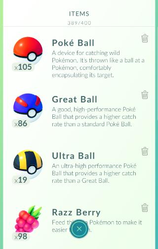 Pokemon Go rugzak