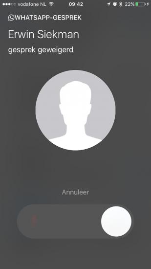 Gesproken bericht achterlaten bij opgehangen WhatsApp-gesprek.