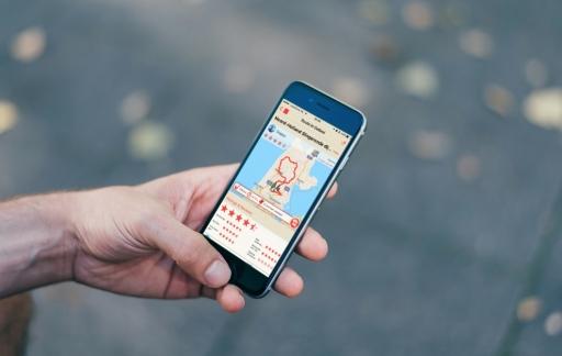 Scenic voor de iPhone met een route.