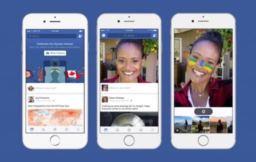 Facebook cameramodus met selfiefilters
