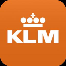 KLM-icoon in oranje.