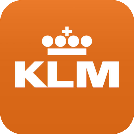 KLM-icoon in oranje.