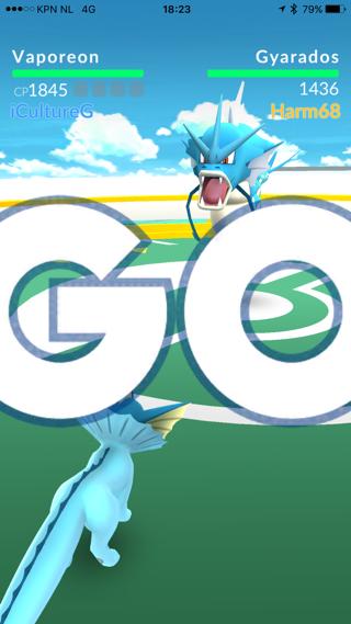 Pokemon Go Gym, beginnen met vechten