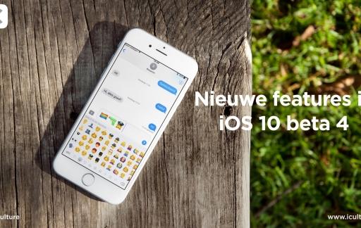 iOS 10 beta 4 met nieuwe functies.