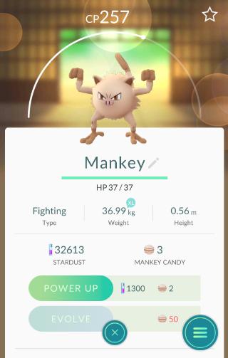 Pokémon GO Mankey