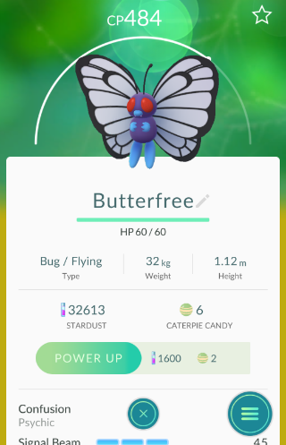 Pokémon Go Butterfree