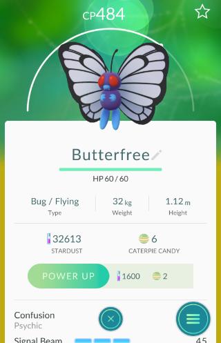 Pokémon Go Butterfree