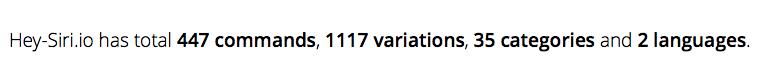 Statistiek van Hey-Siri.io