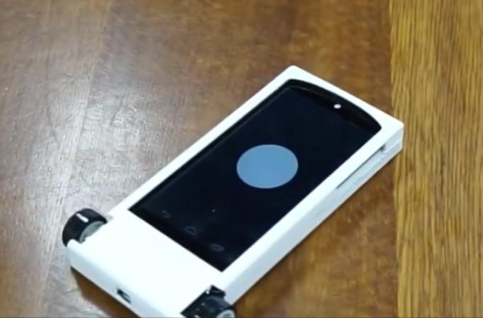 iPhone met wieltjes