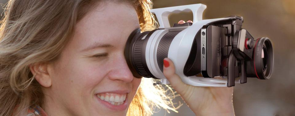 IndieVice-camera met vrouw
