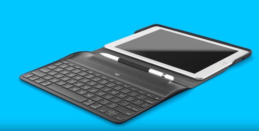 Logitech CREATE toetsenbord met Apple Pencil voor 9,7-inch iPad Pro.