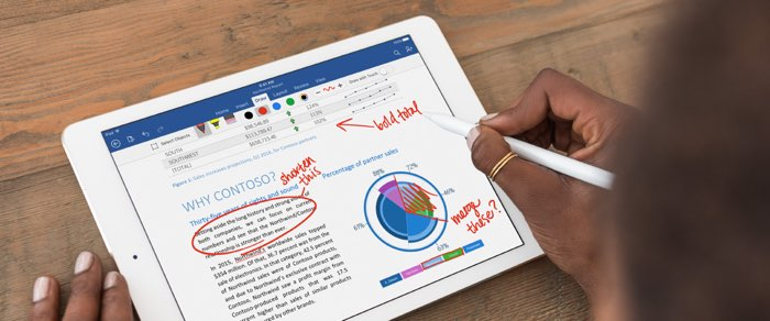 iPad Pro zakelijk gebruik van Word