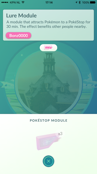 Lure actief in Pokémon Go