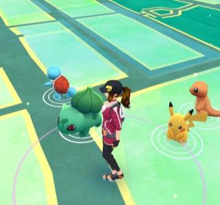 Pokemon Go Pikachu vangen