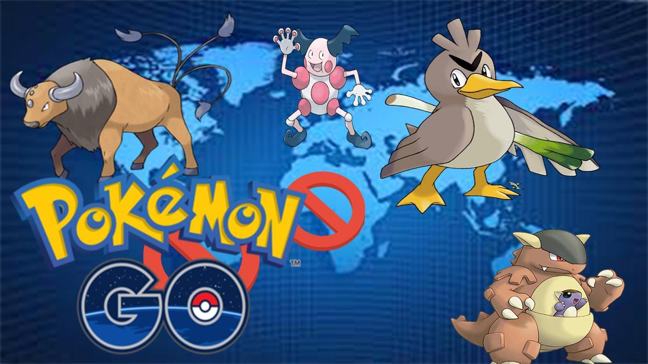 Pokemon Go per regio