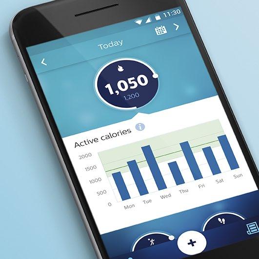 Philips Health App met calorieëndoel