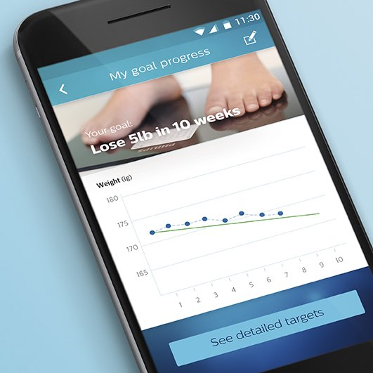 Philips Health App met afslankadvies