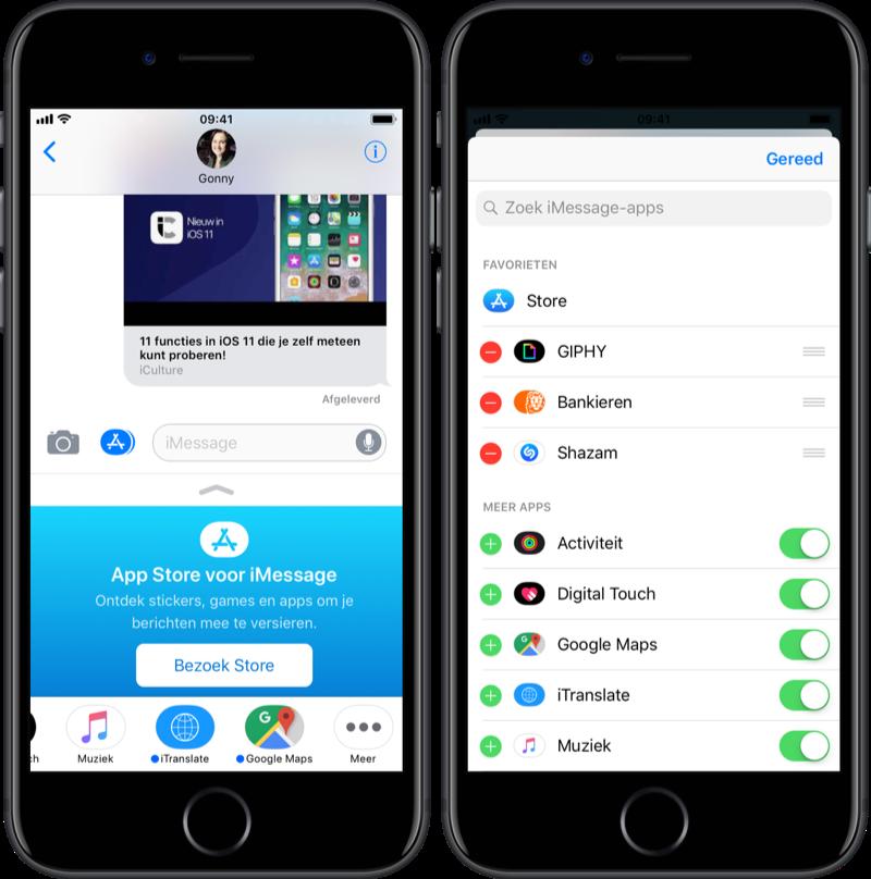 iMessage-app beheren en verwijderen.