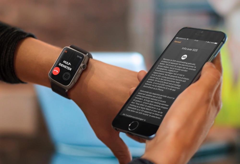 SOS-noodmelding op de Apple Watch gebruiken.