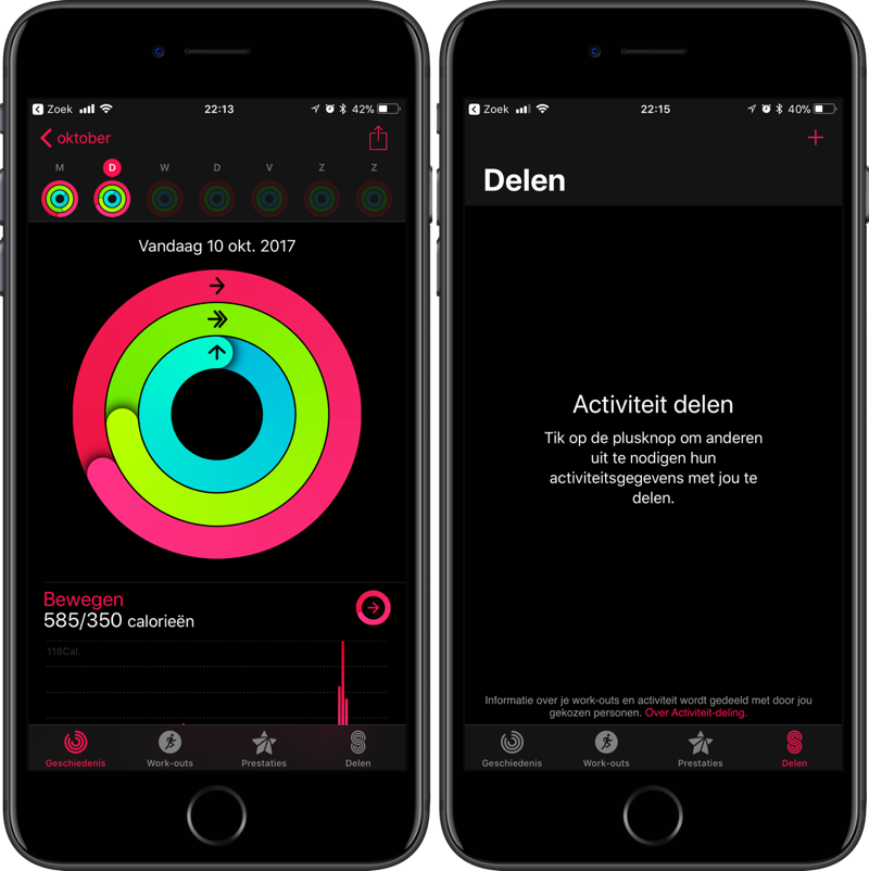Activiteiten delen Apple Watch